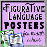 Figurative Language | Figures of Speech Posters for Middle School, Grades 5-8