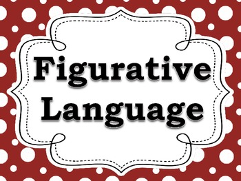 Figurative Language Posters for the Classroom (Black, White, & Red)