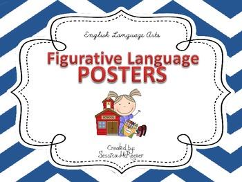 Figurative Language Posters for the Classroom: Chevron Theme