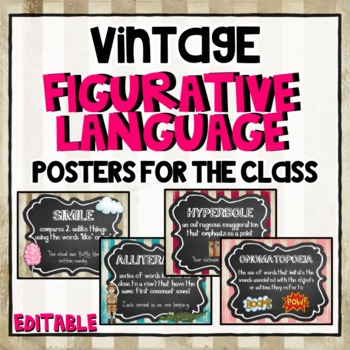Figurative Language Posters for the Classroom