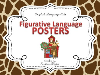 Figurative Language Posters for the Classroom: Giraffe Theme