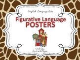 Figurative Language Posters for the Classroom: Giraffe Theme
