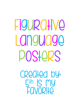 Figurative Language Posters in White
