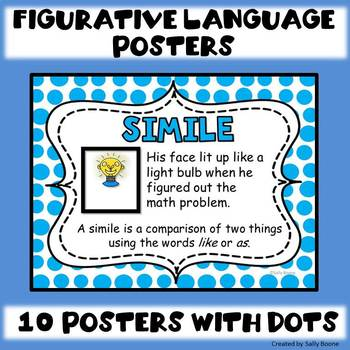 Figurative Language Posters with a Dotted Background