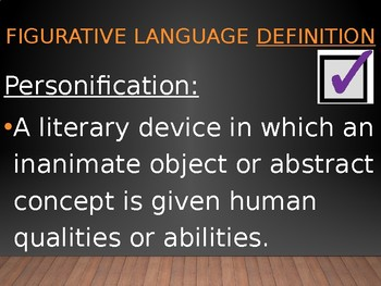 Figurative Language PowerPoint: Definitions and Examples of Common Terms