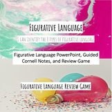 Figurative Language PowerPoint, Cornell Guided Notes, and