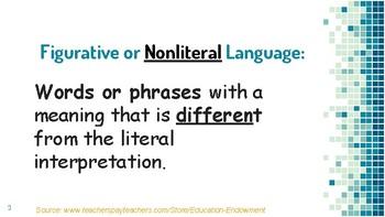 Figurative Language PowerPoint (PDF)