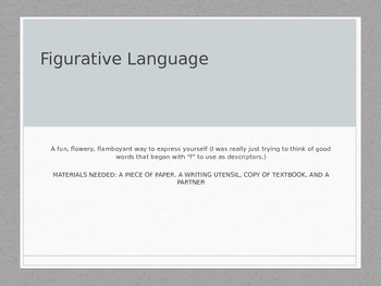 Figurative Language PowerPoint with Five Video Links