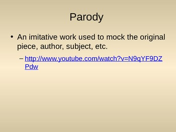 Figurative Language PowerPoint with YouTube Videos