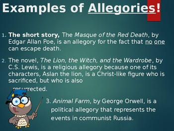 Figurative Language Powerpoint: Definition and Examples of Less Common Terms
