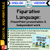Figurative Language: Powerpoint Lesson and Practice Work E