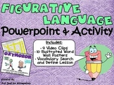 Figurative Language Powerpoint: Videos, Posters, & Activity