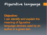 Figurative Language Powerpoint with Notes