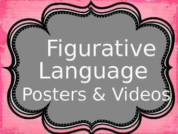 Figurative Language Powerpoint with Posters and Videos