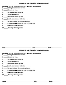 Figurative Language Practice Activities