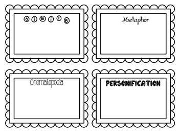 Figurative Language Practice Frames FREEBIE
