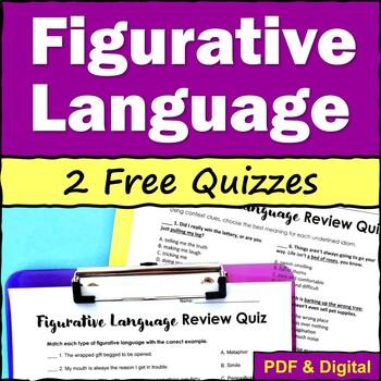 Figurative Language Practice Quizzes - FREE
