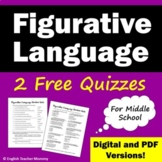 Figurative Language Practice Quizzes - FREE