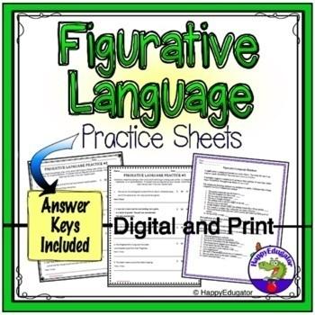 Figurative Language Worksheets - Similes, Metaphors, Idioms, and More!
