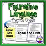 Figurative Language Worksheets - Similes, Metaphors, Idiom