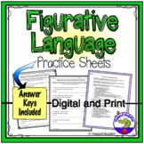 Figurative Language Practice Sheets