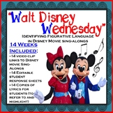 "Figurative Language Practice ""Walt Disney Wednesday"" Disney Sing-Along Songs"