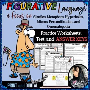 Figurative Language Test And Answer Key Worksheets