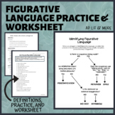 Figurative Language Practice and Worksheet