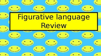 Figurative Language Pre-Assessment