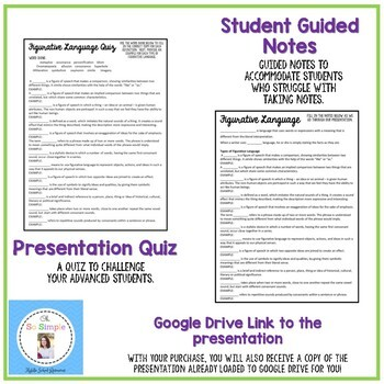Figurative Language Presentation and Guided Notes