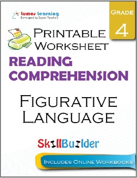 Figurative Language Printable Worksheet, Grade 4