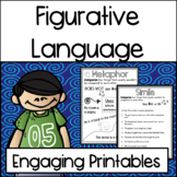 Figurative Language Practice Printables: Similes, Onomatopoeia and More!