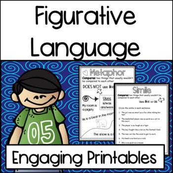 Figurative Language Practice Printables: Similes, Onomatop