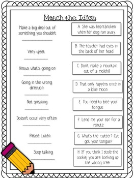 Figurative Language Printables and Activities