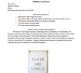 Figurative Language Project, Similes and Metaphors