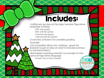 Figurative Language Project - Ugly Sweater Shoppe