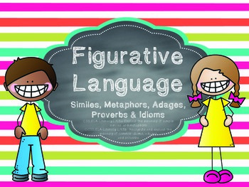 Figurative Language-Proverbs, Adages, Idioms, Similes & Metaphors QR Codes