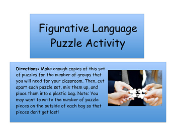 Figurative Language Puzzle Game
