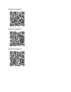Figurative Language QR Code Scavenger Hunt