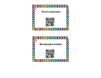 Figurative Language QR Code Task Cards