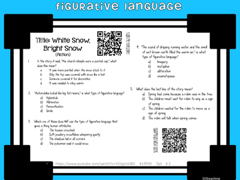 Figurative Language- QR Listening Center and Work Mats