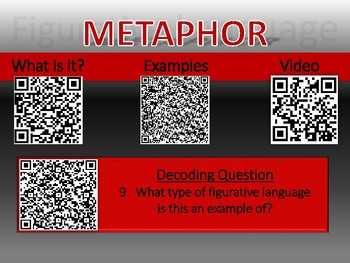 Figurative Language QR Scanner Discovery and Decoder Game (Word Version)