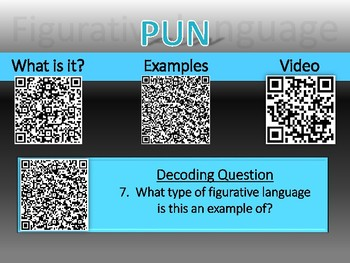 Figurative Language QR Scanner Discovery and Decoder Game (PDF)