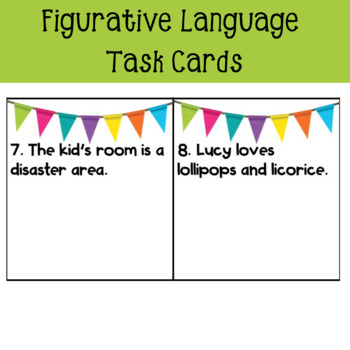 Figurative Language QR Task Cards