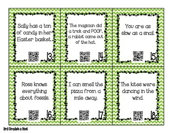 Figurative Language QR codes and Anchor Charts