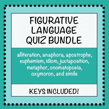 Figurative Language Quiz Bundle
