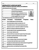 Figurative Language Quiz- Late Elementary/Middle Grades