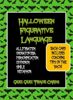 Figurative Language- Quiz Quiz Trade- Halloween Theme