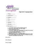 Figurative Language Quiz for Intermediate Elementary