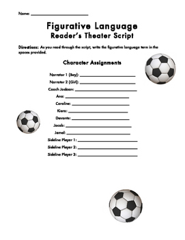 Figurative Language Reader's Theater Script